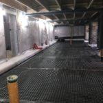 cavity drain membrane on the floor