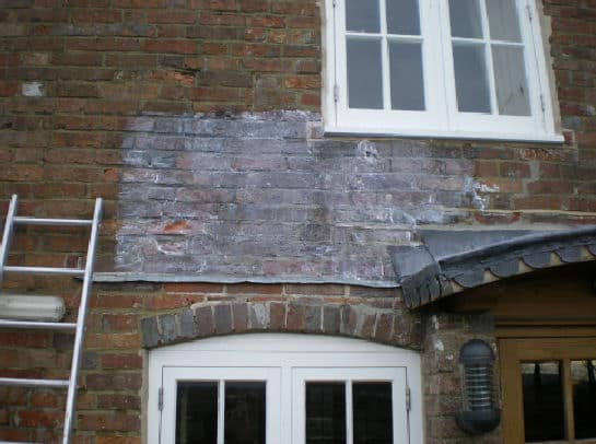 1 hour after penetrating damp cream application