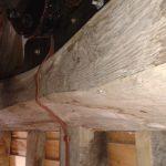 A wooden beam