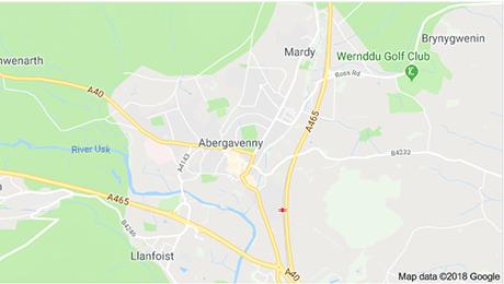 Abergavenny map