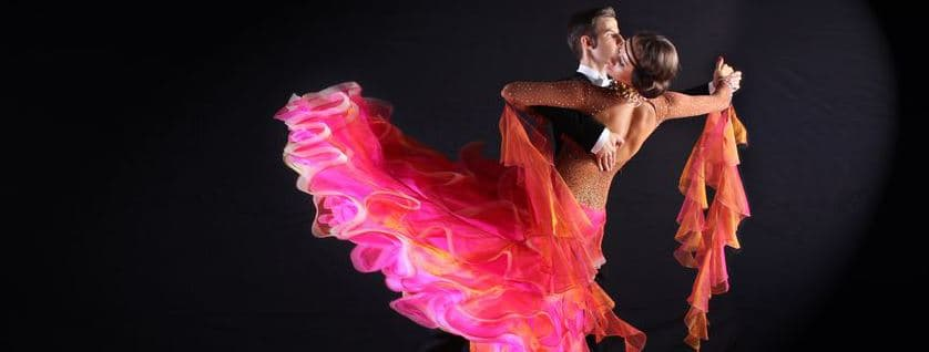 Ballroom dancers doing the Tango