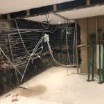Empty basement before waterproofing