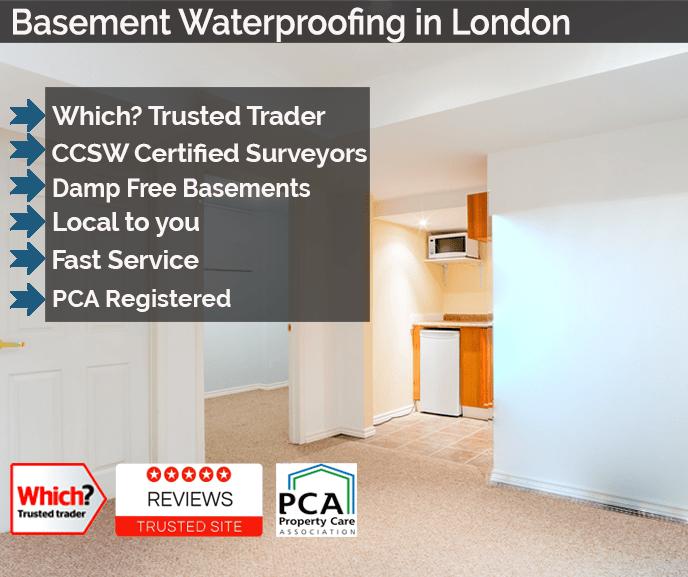Basement Waterproofing London Basement And Cellar Tanking London Interesting Basement Drainage Design