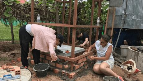 Katie Building Homes in Cambodia