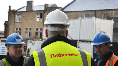 Man with Timberwise high viz and white hardhat