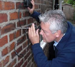 Cavity Wall Tie Survey using a boroscope