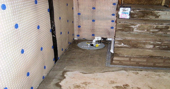 Membrane Damp Proofing Sheet : A specialist basement waterproofing solution for the