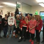 Timberwise Team in Christmas Jumpers