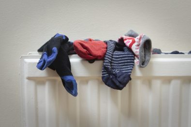 dry clothes on radiator