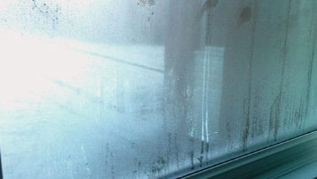Condensation appearing on window