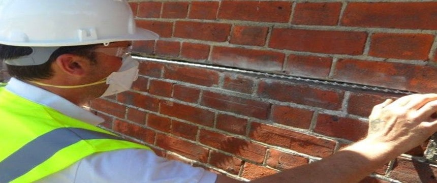 Crack Stitching being carried out