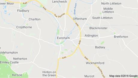 Evesham map