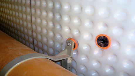 Fixings In Cavity Drain Membrane