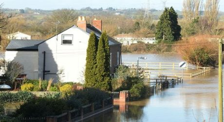 Flooding affecting town