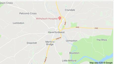 Haverfordwest map