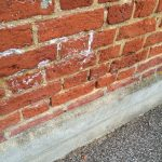 Salting on an exterior wall