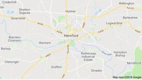 Hereford map