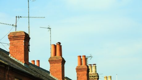 Houses with chimneys