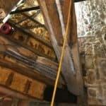 Resin repair to the beam