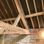 Beam with signs of woodworm