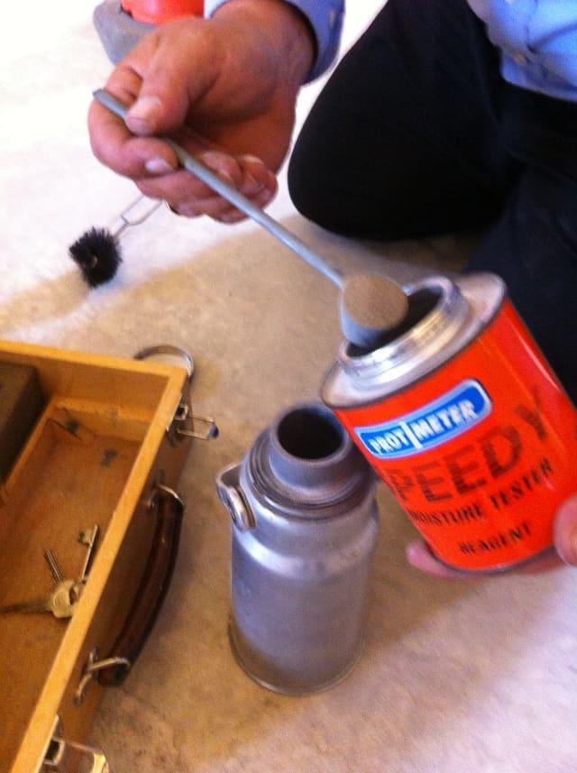 Adding the calcium carbine reagent