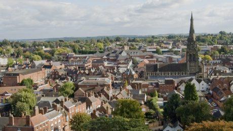 Ariel view of Lichfield