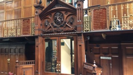 Wooden decoration inside the Mining Institute in Newcastle