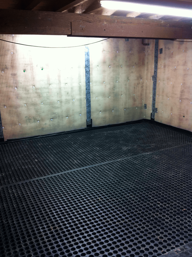 with the new basement waterproofing system installation timberwise