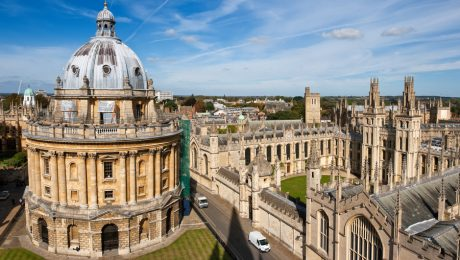 Ariel view of Oxford, England