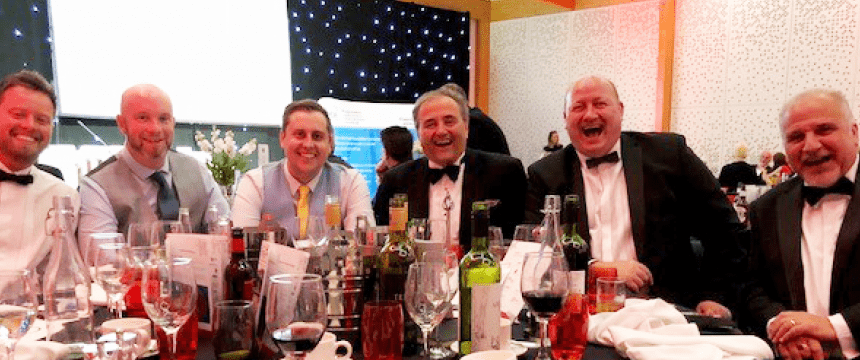 Group of people at an awards dinner