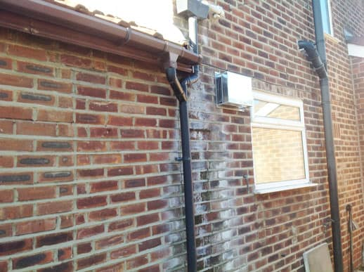 Penetrating damp affecting a property in Preston