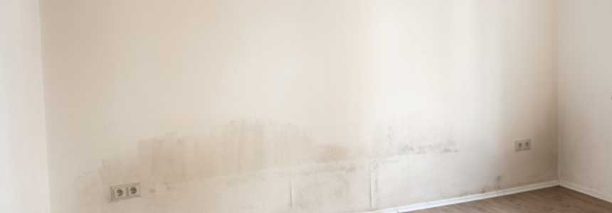 Signs of Rising Damp on a wall