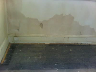 Rising damp on internal walls
