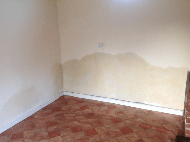 Rising damp present on walls