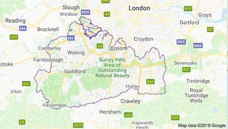 Surrey-map
