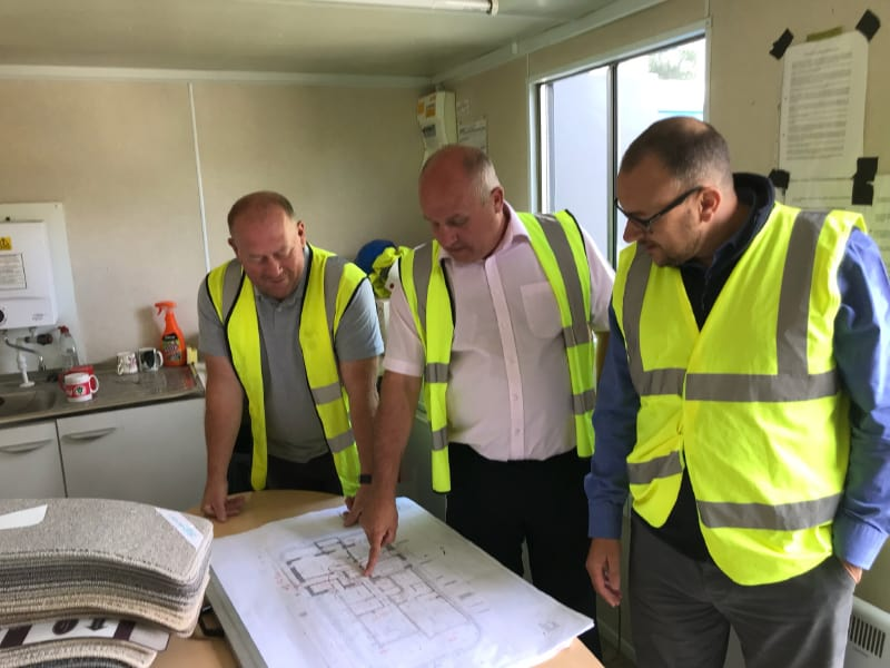 Surveyors planning project in Essex