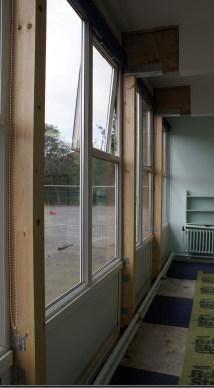 Timber repair - the new posts in situ