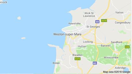 Weston Super Mare map