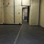 Membrane applied to the walls and floor