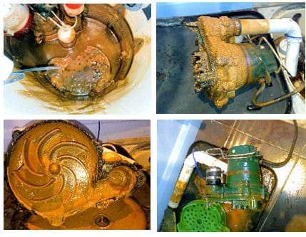 From dirty sump pump to clean serviced unit