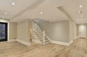 Inside a newly finished basement