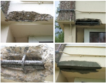 Example of concrete repair