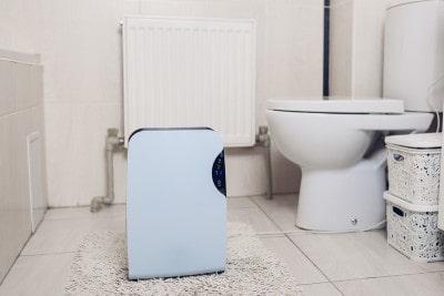 dehumidifier in bathroom