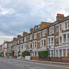 A row of terrace houses in Fulham, London