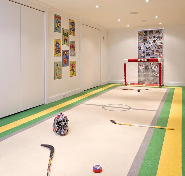 Hockey Rink basement design