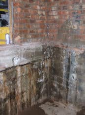 A lift pit suffering with water ingress