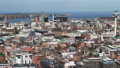 Ariel view of Liverpool