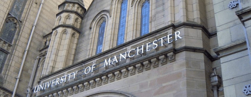 The front of the University of Manchester