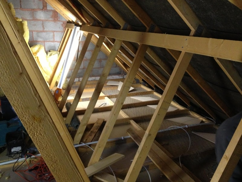 Plywood Box Beam In A Loft Conversion For Attic Designs
