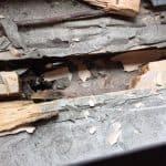 wood rot windowsill rear left room